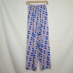 Womens New England Patriots 100% silk lounge pants
